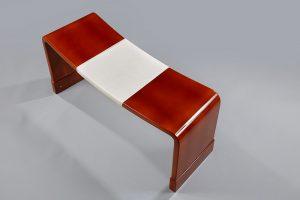 banc, laque d'art, mobilier, Atelier Midavaine